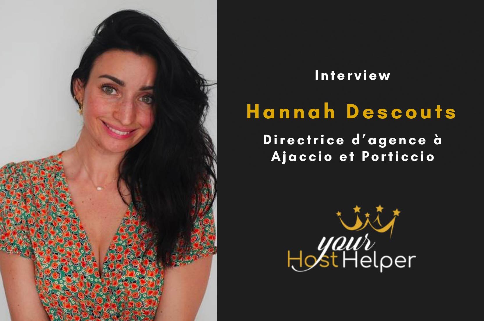 Interview de Hannah DESCOUTS : Directrice de la conciergerie YourHostHelper à Ajaccio